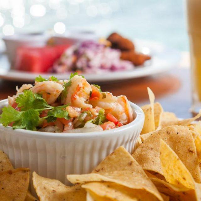 Belize Island Dining - pool side snacks
