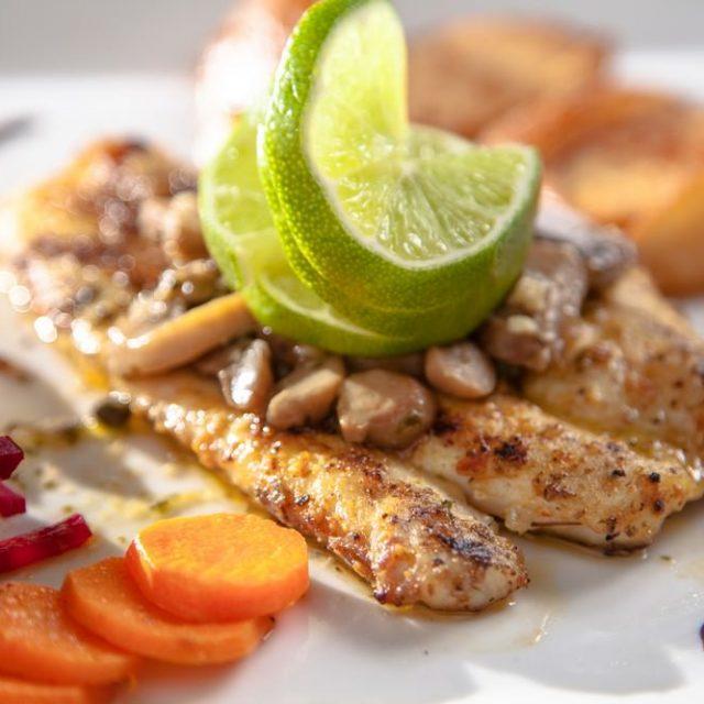 Belize Island Dining - fresh fish dishes