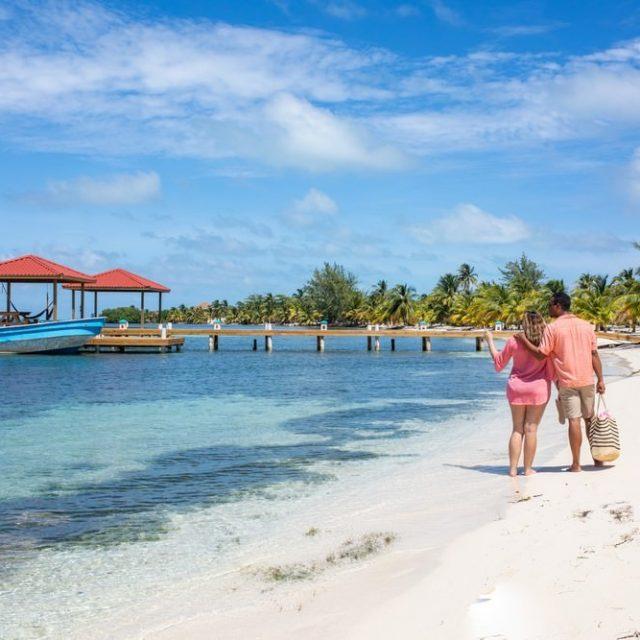 Glovers Reef Belize - Arrival dock