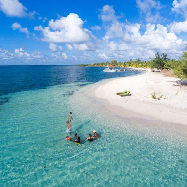 Glovers Reef Belize - Drone Shot
