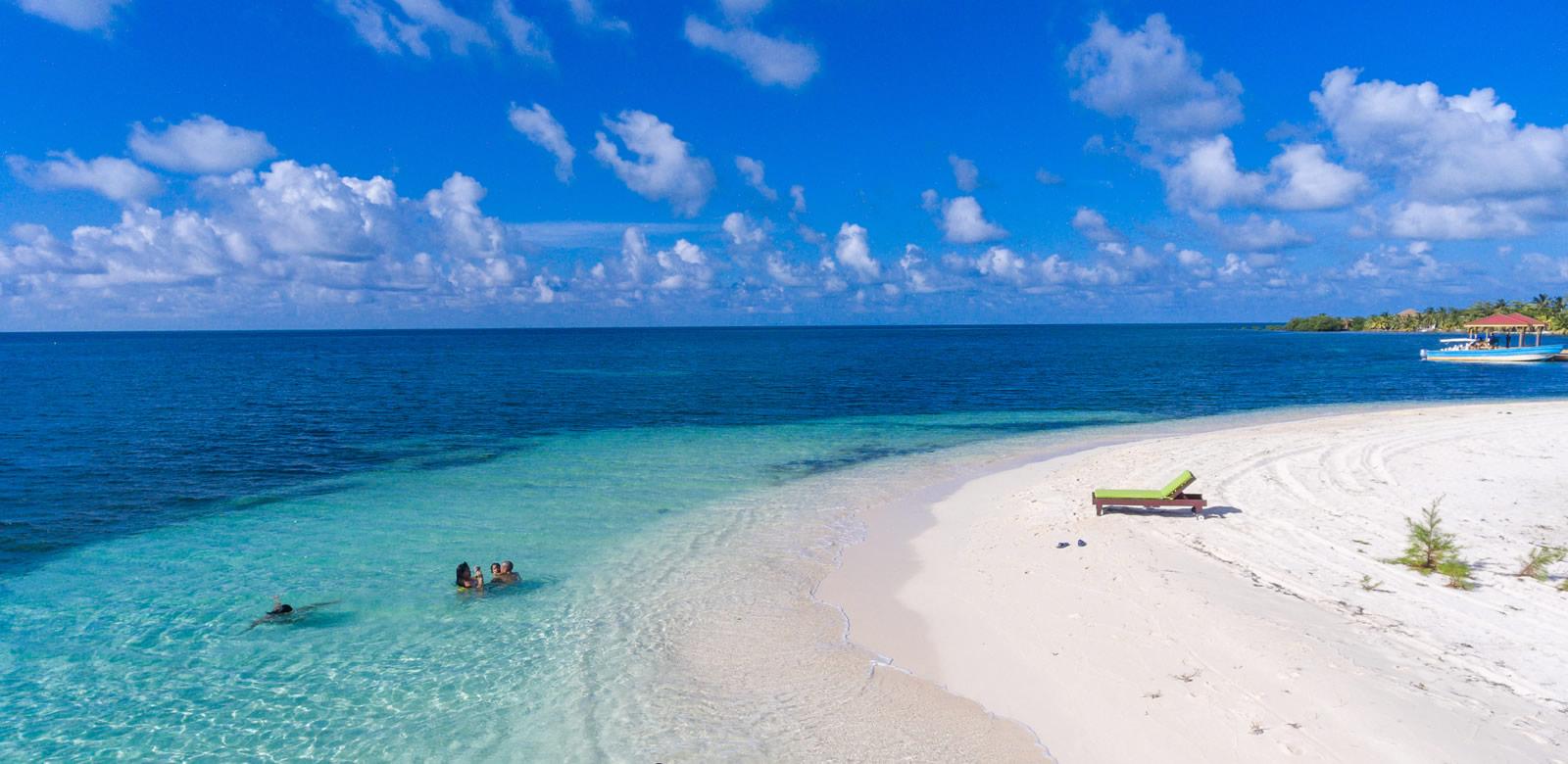 Manta Island Belize - Aerial Image