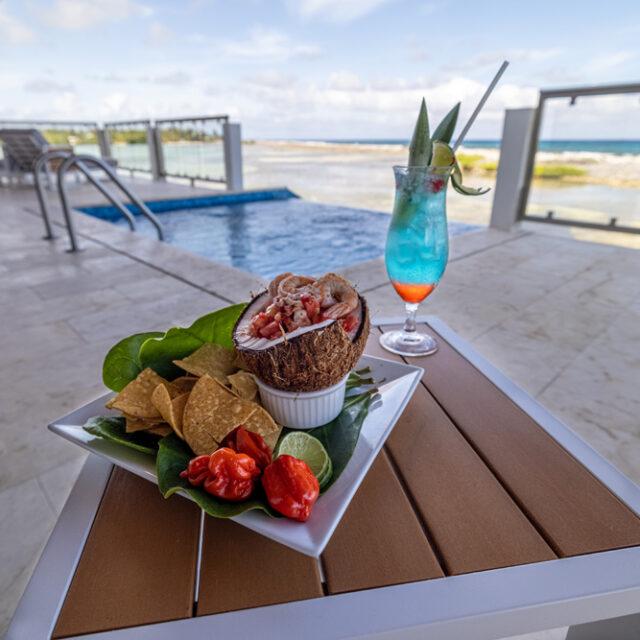 Belize Reef Villa - Snack on the veranda