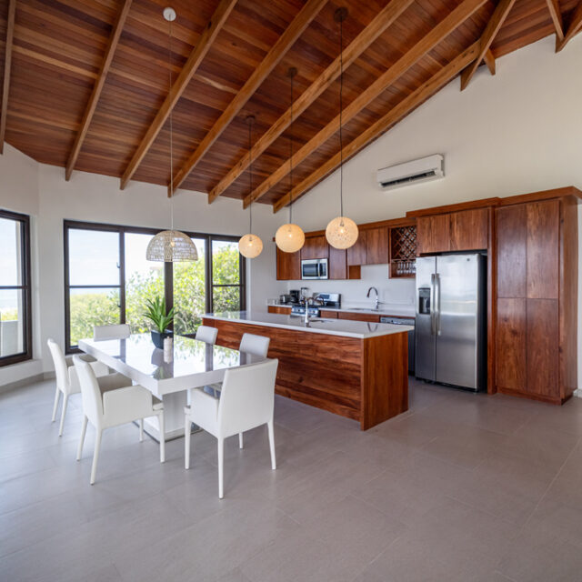 Belize Reef Villa - Kitchen and Dining Room