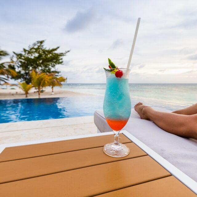 Cocktail at Manta Island, Belize