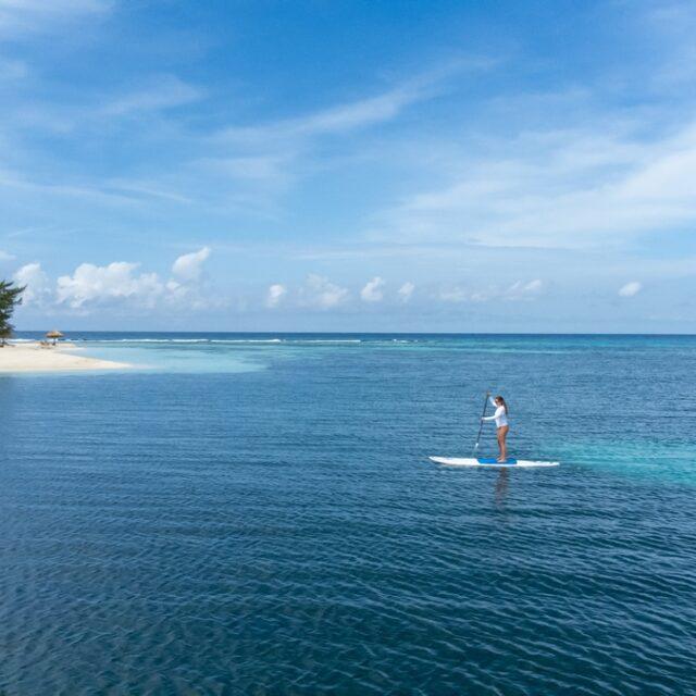 Paddle board around Manta Island, Belize