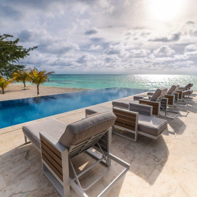 Poolside at Manta Island, Belize