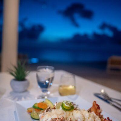 Dinner at at Manta, Belize