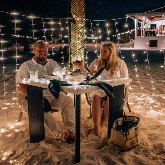 Candlelit Dinner at Manta Island, Belize
